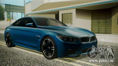 BMW M4 Coupe 2015 Brushed Aluminium für GTA San Andreas