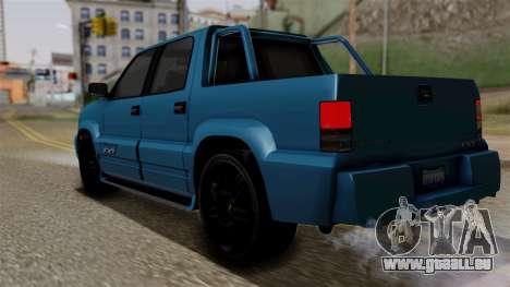 Syndicate Criminal (Cavalcade FXT) from SR3 für GTA San Andreas linke Ansicht