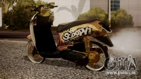 Honda Scoopy New Pink pour GTA San Andreas laissé vue