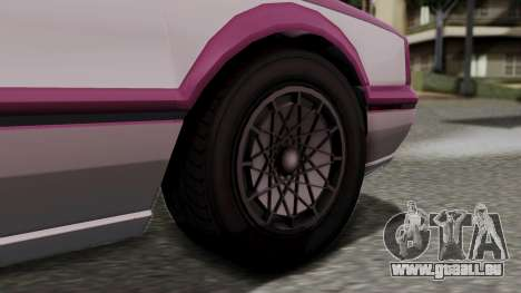 GTA 5 Albany Primo pour GTA San Andreas sur la vue arrière gauche