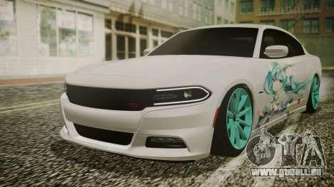 Dodge Charger RT 2015 Hatsune Miku für GTA San Andreas Innenansicht
