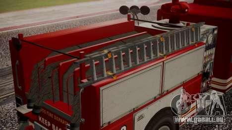 GTA 5 MTL Firetruck pour GTA San Andreas vue de droite