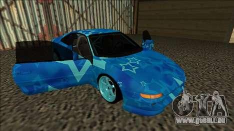 Toyota MR2 Drift Blue Star für GTA San Andreas Seitenansicht