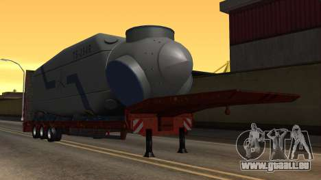 Overweight Trailer Stock pour GTA San Andreas