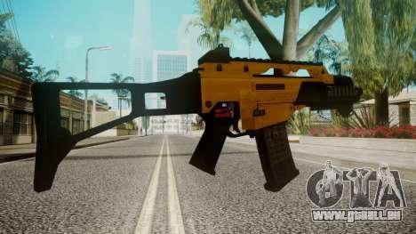 G36C Gold für GTA San Andreas dritten Screenshot