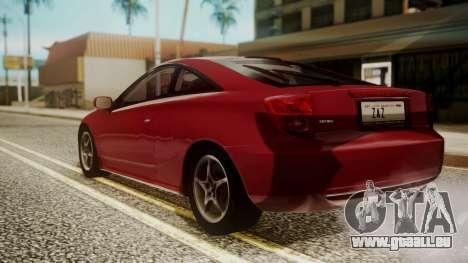 Toyota Celica SS2 Tunable pour GTA San Andreas laissé vue