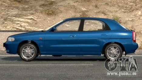 Daewoo Nubira I Hatchback CDX 1997 pour GTA 4 est un côté