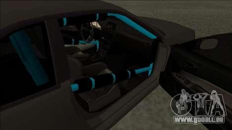 Nissan Skyline R34 Drift Monster Energy pour GTA San Andreas sur la vue arrière gauche