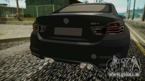 BMW M4 Coupe 2015 Carbon für GTA San Andreas Rückansicht