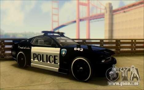 Schale Dominator Transformatoren Polizei Auto für GTA San Andreas rechten Ansicht