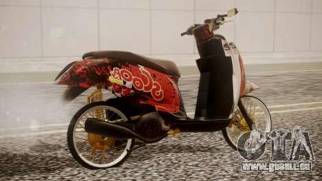 Honda Scoopy New Red pour GTA San Andreas laissé vue