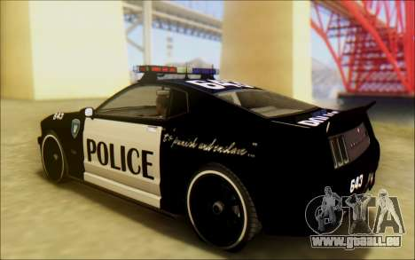 Schale Dominator Transformatoren Polizei Auto für GTA San Andreas linke Ansicht
