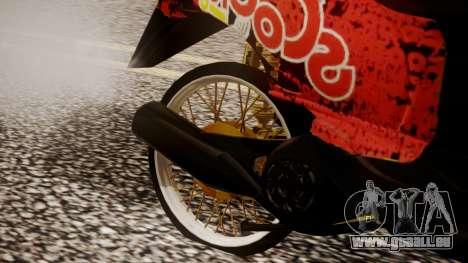 Honda Scoopy New Red für GTA San Andreas rechten Ansicht