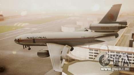 DC-10-10 National Airlines pour GTA San Andreas laissé vue