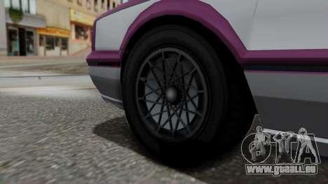 GTA 5 Albany Primo IVF pour GTA San Andreas sur la vue arrière gauche