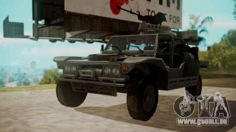 LY-T2021 pour GTA San Andreas sur la vue arrière gauche