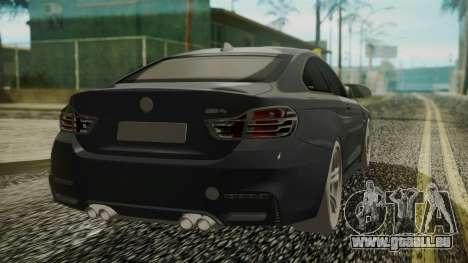 BMW M4 Coupe 2015 Carbon pour GTA San Andreas laissé vue