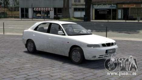 Daewoo Nubira I Hatchback CDX 1997 pour GTA 4 Salon