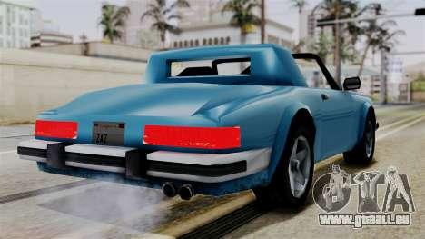 Comet from Vice City Stories pour GTA San Andreas laissé vue