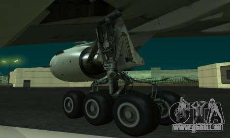 Boeing 777-200LR Philippine Airlines für GTA San Andreas zurück linke Ansicht