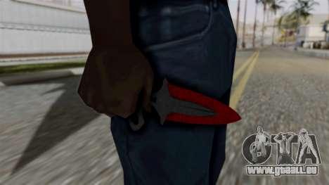 L'ombre de la Dague Sanglante des toiles d'araig pour GTA San Andreas troisième écran