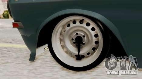 Le réchaud à GAZ 24 pour GTA San Andreas sur la vue arrière gauche