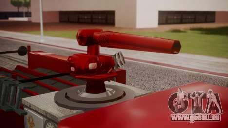 GTA 5 MTL Firetruck für GTA San Andreas Rückansicht