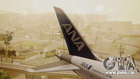 Boeing 787-9 ANA R2D2 pour GTA San Andreas sur la vue arrière gauche