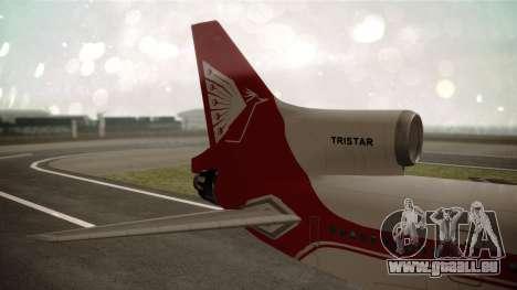 Lockheed L-1011 Air Lanka für GTA San Andreas zurück linke Ansicht