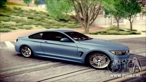 BMW 4 Series Coupe M Sport pour GTA San Andreas laissé vue