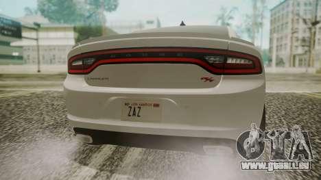 Dodge Charger RT 2015 Hatsune Miku pour GTA San Andreas vue arrière