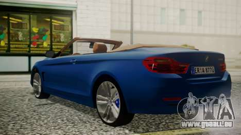 BMW M4 F32 Convertible 2014 pour GTA San Andreas laissé vue
