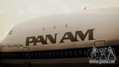 Boeing 747-100 Pan Am Clipper Maid of the Seas pour GTA San Andreas vue arrière