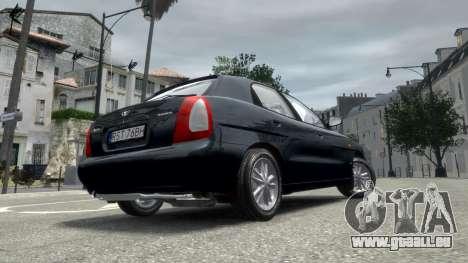 Daewoo Nubira I Hatchback CDX 1997 pour GTA 4 Vue arrière de la gauche