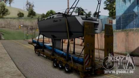 Overweight Trailer Yellow pour GTA San Andreas laissé vue