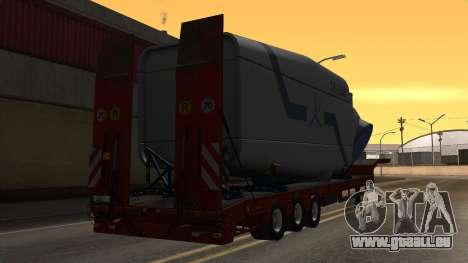 Overweight Trailer Stock pour GTA San Andreas laissé vue