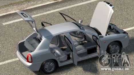 Daewoo Nubira I Hatchback CDX 1997 pour GTA 4 est une vue de l'intérieur