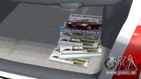 Daewoo Nubira I Hatchback CDX 1997 pour GTA 4 vue de dessus