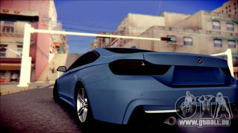 BMW 4 Series Coupe M Sport für GTA San Andreas zurück linke Ansicht