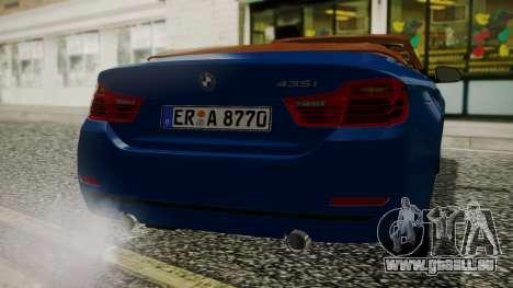 BMW M4 F32 Convertible 2014 pour GTA San Andreas vue de droite
