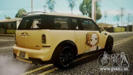 Mini Cooper Clubman 2011 K-ON Ritsu Itasha pour GTA San Andreas laissé vue