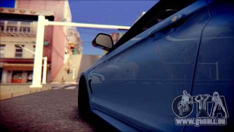BMW 4 Series Coupe M Sport pour GTA San Andreas vue intérieure