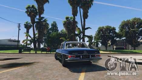 GTA 5 Mercedes-Benz 300SEL 6.3 v1.3 hinten links Seitenansicht