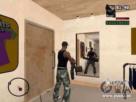 M249 für GTA San Andreas sechsten Screenshot