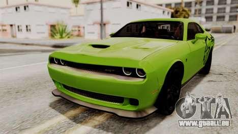 Dodge Challenger SRT Hellcat 2015 IVF pour GTA San Andreas roue