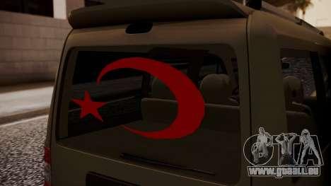 Ford Connect für GTA San Andreas Rückansicht
