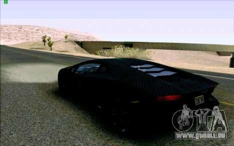 Lamborghini Aventador LP-700 Razer Gaming pour GTA San Andreas sur la vue arrière gauche