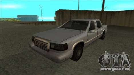 Stretch Sedan pour GTA San Andreas sur la vue arrière gauche