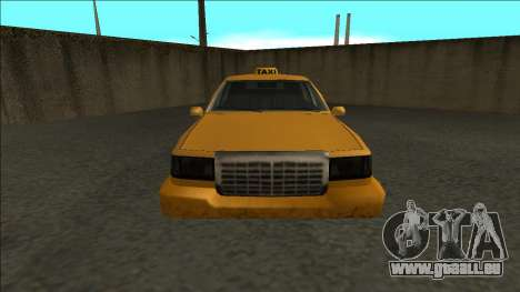 Stretch Sedan Taxi pour GTA San Andreas vue de droite