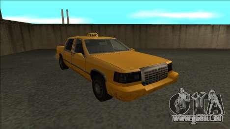 Stretch Sedan Taxi für GTA San Andreas Rückansicht
